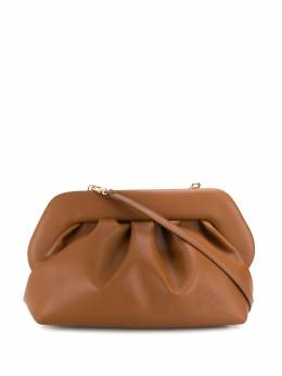pleated faux-leather clutch bag Themoirè TMS20BN2