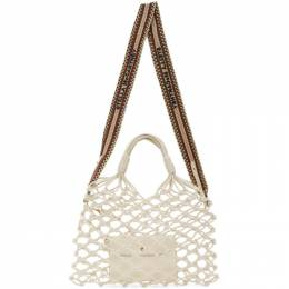 Stella Mccartney	 White Alter Nappa Knotted Tote 700007W8635
