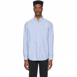 Polo Ralph Lauren Blue and White Striped Oxford Shirt 710776781010