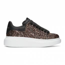 Alexander McQueen SSENSE Exclusive Black and Red Galaxy Glitter Oversized Sneakers 558944W4EY5