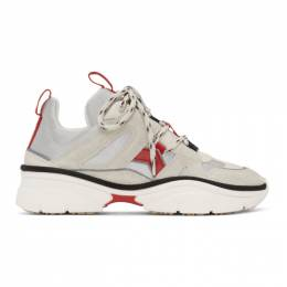 Isabel Marant Off-White and Red Kindsay Sneakers 20PBK0052-20P028S