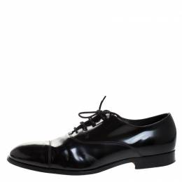 Tod's Black Leather Lace Up Oxford Size 45 267464