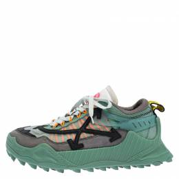 Off-White Multicolor Mesh and Leather Odsy 1000 Sneakers Size 42