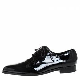Dior Black Patent Leather Lace Up Derby Size 42.5 265844