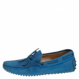 Tod's Blue Nubuck Leather City Gommino Loafers Size 40 Tod's