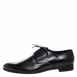 Dolce and Gabbana Black Leather Derby Size 46 262492