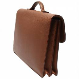 Hermes Brown Leather Sac A Depeche Briefcase 263125