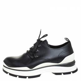 Louis Vuitton Black Leather Derby Lace Up Sneakers Size 41 259532