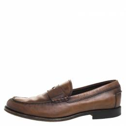 Tod's Brown Leather Penny Loafers Size 42.5 Tod's