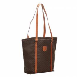 Celine Brown Macadam Canvas Tote Bag