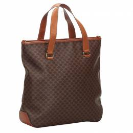 Celine Brown Macadam PVC Tote Bag