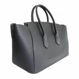 Bally Black Leather Sommet Tote Bag 207609