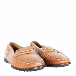 Tod's Brown Leather Loafers Size 39 Tod's