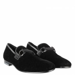 Salvatore Ferragamo	 Black Velvet Loafers Size 40