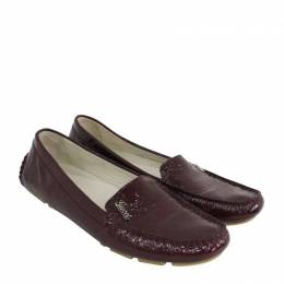 Gucci Burgundy Patent Leather Loafers Size 37 188848
