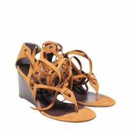 Balenciaga Brown Leather Ankle Strap Sandals Size 35.5 189940