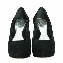 Gucci Black Suede Platform Pumps Size 39
