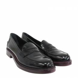 Tod's Black Leather Loafers Size 37 Tod's