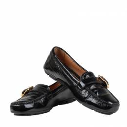 Prada Black Leather Loafers Size 36