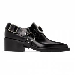 Y / Project Black Leather Buckle Loafers BOOT4-S18
