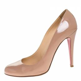 Christian Louboutin Nude Leather Simple Pumps Size 40.5 270329