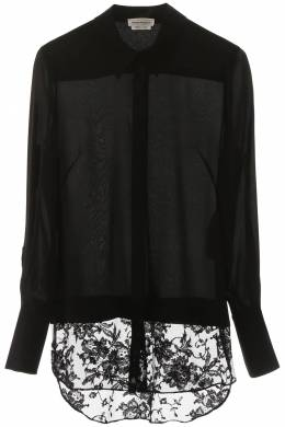 SHIRT WITH LACE INSERT Alexander McQueen 201527DCW000001-1000