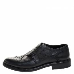 Burberry	 Black Brogue Leather Rayford Derby Size 43