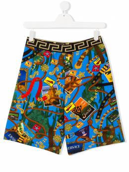 Young Versace TEEN stamp-print swim shorts YD000184A232761
