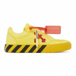 Off-White Yellow and Red Low Vulcanized Sneakers OMIA085R20D330506020