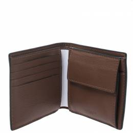 Coach Brown Leather Compact Bifold Wallet 270349
