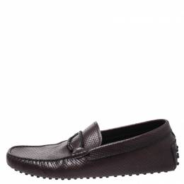 Tod's Brown Perforated Leather Gommino Loafer Size 42 Tod's