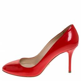Prada Red Patent Leather Pumps Size 37