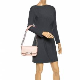 Tod's Pink Leather Mini Catena Shoulder Bag 271362