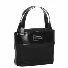 Celine Black Nylon Leather Shoulder Bag