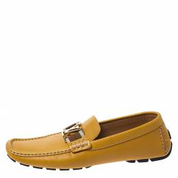 Louis Vuitton Mustard Leather Monte Carlo Loafers Size 41