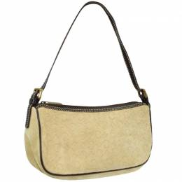 Celine Beige Suede Shoulder Bag