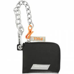 Heron Preston Black Saffiano Chain Wallet HMNC003S209200071000