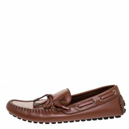 Louis Vuitton Brown Leather Arizona Loafers Size 40.5 272263