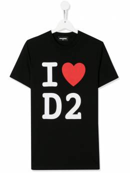Dsquared2 Kids TEEN heart logo print T-shirt DQ03WFD00WY
