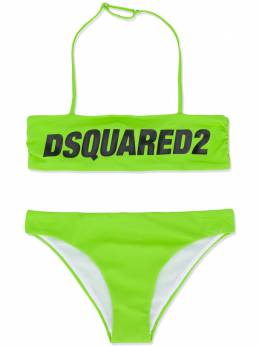Dsquared2 Kids TEEN logo printed bikini set DQ040UD000V