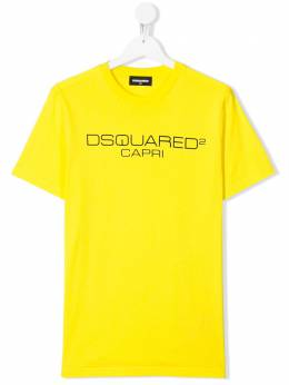 Dsquared2 Kids футболка Capri с логотипом DQ03WHD2T530UT