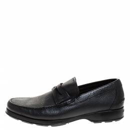 Salvatore Ferragamo	 Black Leather Penny Loafers Size 41.5