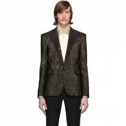 Saint Laurent	 Gold and Black Viscose Blazer 603194Y811V