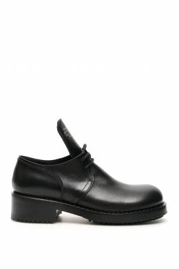 TEXT EMBOSSED DERBY SHOES Raf Simons 201698LCX000002-0099
