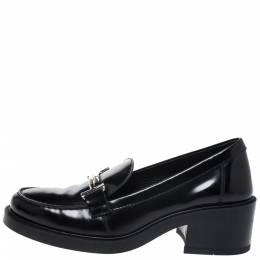 Tod's Black Leather Double T Loafers Size 38 Tod's