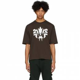 Brown Photochromic Ink Blot T-Shirt Youths in Balaclava YOU01T001