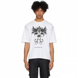 White Stitching T-Shirt Youths in Balaclava YOU01T003