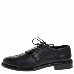 Burberry Black Brogue Leather Rayford Derby Size 44 277001