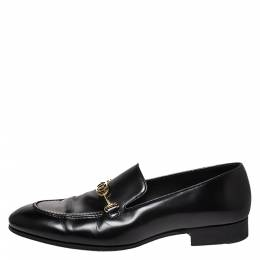 Louis Vuitton Black Leather Club Loafers Size 41 277537