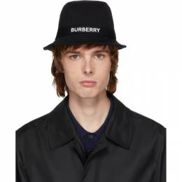 Burberry	 Black Jersey Bucket Hat 8026928